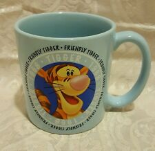 Disney Store Friendly Tigger 1968 Coffee Mug Cup Powder Blue Large Big 16 Oz