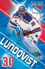 HENRIK LUNDQVIST - NEW YORK RANGERS POSTER - 22x34 NHL HOCKEY 15520