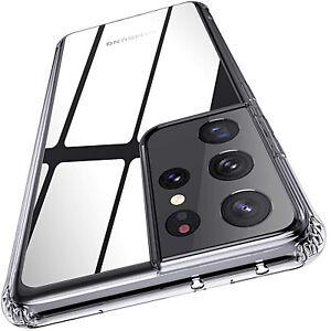 Coque Pour Samsung Galaxy S21 + Ultra Silicone Transparent + Verre Trempé