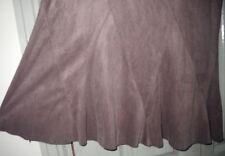 Portmans 8 10 Brown Soft Suede Look Bias Cut Soft Work Winter Skirt