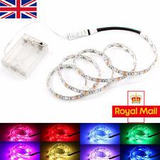 LED Strip Lights RGB Battery Box Controller Battery Powered Multi-Color 30LED UK
