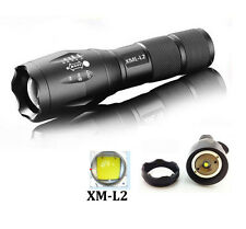 UltraFire 3000LM 5Modes CREE XM-L2 LED Zoomable Flashlight Torch Focus LampLight