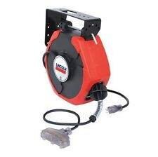 Lincoln LNI91029 125 VAC/12A Medium Duty 50 Power Cord and Light Reel NEW