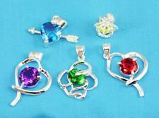 wholesale Fashion 5pcs Silver mixed crystal Necklace Pendant