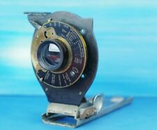 Bausch & Lomb Rapid Rectilnear Lens /w Shutter on Rail, Antique, Folding Camera