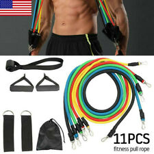 11PCS Resistance Band Set Pull Rope Gym Home Fitness Workout Crossfit Yoga Tubes