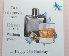 HANDMADE PERSONALISED BIRTHDAY CARD 18TH 21ST 40th SON GRANDSON DAD BROTHER