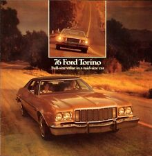 1976 Ford Torino and Gran Original Car Sales Brochure Catalog - Squire Wagon
