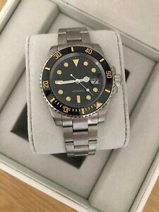 Men's Classic Black Watch, Automatic Sub With Ceramic Bezel + Presentation Box