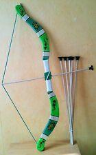 Arc en bois ( 5 fleches  taille 75 cm (jeux jouet enfant) (artisan createur)