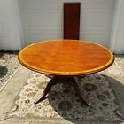 Ethan Allen Newport Hansen Round Mahogany Dining Table Belmont Finish with Leaf