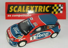 SCALEXTRIC SPAIN PLANETA RALLYES  MITICOS ESPAÑA FORD FOCUS RS JAIO-CRUZ  MINT