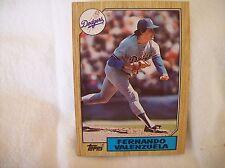 1987 Topps Baseball Fernando Valenzuela - Dodgers