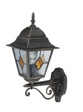 luce lampada da parete applique per esterni Jason Nero Oro NUOVO DI Brilliant