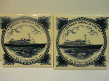 "Holland American Line Ss Volendam Ii Tile, 3 7/8"" X 3 7/8"" (Pre-Owned/Euc)"