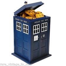 NEW Doctor Dr Who Tardis Replica Talking Cookie Jar BBC Official Biscuit Lights
