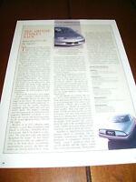 GENERAL MOTORS IMPACT ELECTRIC CAR ***ORIGINAL 1992 ARTICLE***