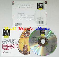 CD KARAJAN Simphony 8 unfinished 4 italian SCHUBERT MENDELSSOHN 83 lp mc dvd
