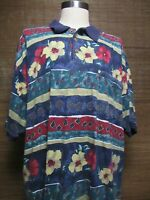 Tommy Bahama 100% Cotton Vintage Shirt Size XXL Made In Hong Kong