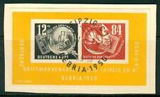 """GERMANIA - DDR - BF - 1950 - Esposizione filatelica nazionale a Lipsia """"Debria"""""""
