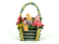 Porcelain Flower Basket Collectible (Gently Used)