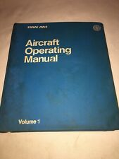 PAN AM AIRCRAFT OPERATING MANUAL VINTAGE PAN-AM VOLUME 1 707