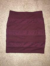 Burgundy Mini Skirt Forever 21 Size Small
