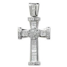 Sterling Silver Large Crucifix Cross Pendant 52 gram 74mm NEW