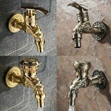 Carved Faucet Retro Tap Zinc Alloy Decorative Garden Bathroom Garden Wall Taps