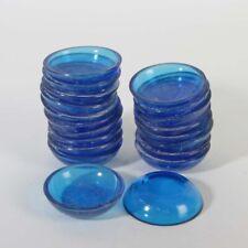 20 Schälchen Cenedese Murano Glas alte Lagerware blau klar