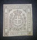 Modena 15 cent 1859 nuovo * con gomma firmato cat. 3750 euro