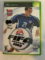 FIFA SOCCER 2003 - XBOX - COMPLETE W/ MANUAL - FREE S/H - (T8)