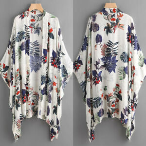 2021 Womens Summer Open Front Long Sleeve Coat Jacket Casual Loose Tops Cardigan