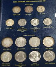 20th Century United States Type Circulated Coin Set Grades Good Uncirculated