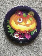 Halloween effrayant POTIRON papier Assiette dîner Paquet de 8 23cm 22.9cm