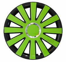 "FIAT 500 14"" Wheel trims  4x14"" full set BRAND NEW 14'' black - green"