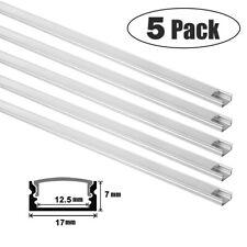 LED Profil Aluprofil Alu Schiene leiste Profile eloxiert Aufputzprofil 1m 5pack