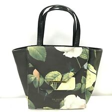 Ted Baker Handbag Ladies Medium Black Floral Tote Lobster Clasp 291547