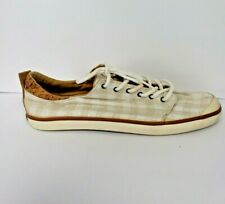 Reef Womens / Girls Walled Low Natural Size 9 Natural Beige Checker Print