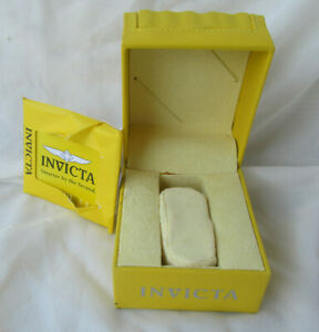 Invicta Yellow Classic Wave Empty Watch Box Case Watch Display With Manual Instr