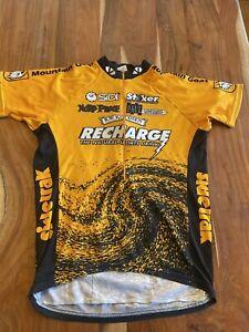 Voler Mens Medium 1/4 Zip Cycling Jersey Recharge Yellow Bright!