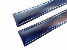 KALBSLEDERBAND blau 18/16  (110/90) speziell passend für  Breitling-Faltschließe