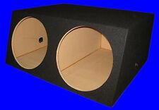 "2 HOLE 15"" EXTRA DEEP BLACK SUBWOOFER SUB SPEAKER ENCLOSURE BOX"