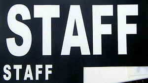 3 large + 3 small STAFF iron on transfers wholesale 6 pack for T-SHIRTS etc.