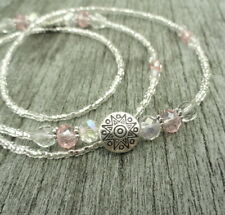 Eyeglass Chain, Pink Eyeglass Necklace, Silver Glasses Chain with Pink Crystal