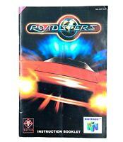 Notice jeu N64 Roadsters Nintendo 64 Livret Instruction Manuel EUR