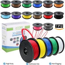 Acenix ® 3D Impresora Filamento TPU/TPU flexible 1.75mm 1KG/2.2lbs Carrete Elástico