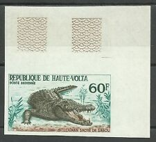 Haute Volta Upper Volta Nile Crocodile Non Dentele Imperf Proof Ungezahnt **1965