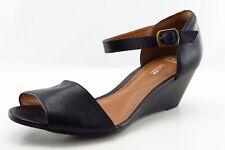 Clarks Ankle Strap Black Leather Women Shoes Size 9 Wide (C, D, W)