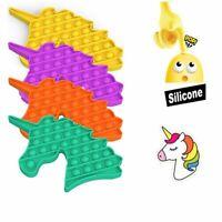 Pop Its Square Fidget Toy Push Pop Bubble Stress Relief Kids Pop Tiktok Unicorn